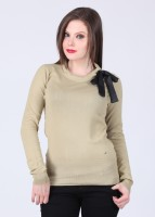 Arrow Solid Round Neck Casual Women's Sweater