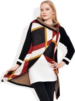 Polka Dot Printed Turtle Neck Casual Women's Sweater - SWTE8GGGGMJEJEE7