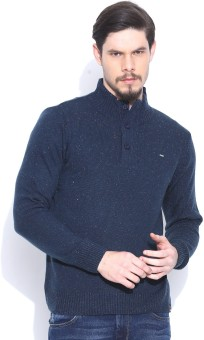 Lee Solid Turtle Neck Casual Men's Sweater