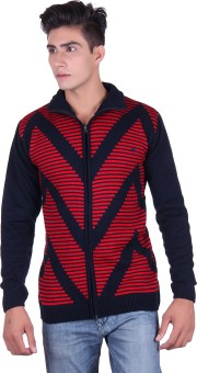 Fabtree Solid, Striped Turtle Neck, V-neck Casual, Party, Festive Men's Sweater - SWTEBVQ3URDGSF9H