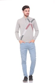 Pro Riders Solid Turtle Neck Casual Men's Sweater