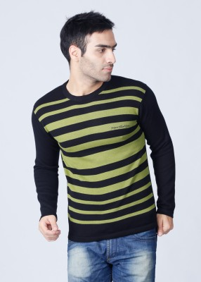 Integriti Striped Round Neck Casual Men's Sweater