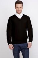 ALX New York Solid V-neck Casual Men's Sweater - SWTDSG9YZWJBRM4A