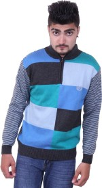 Austrich Self Design Round Neck Casual Men's Sweater