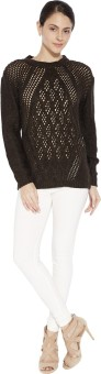 Globus Solid Round Neck Casual Women's Sweater