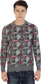 Fila Geometric Print Round Neck Sports Men's Sweater