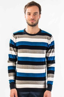 Srota Striped Round Neck Casual Men's Sweater