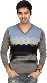 Acropolis By Shoppers Stop Self Design V-neck Casual Men's Sweater
