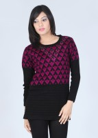 Duke Checkered Round Neck Women's Sweater