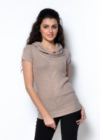 Fashley London Solid Cowl Neck Casual Women's Sweater