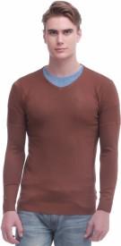 Jogur Self Design V-neck Men's Sweater