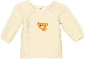 Mom&Me Solid Round Neck Casual Baby Girl's Sweater