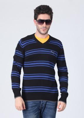 Puma Striped V-neck Casual Men's Sweater