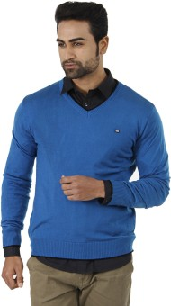 Arrow Solid V-neck Formal Men's Sweater