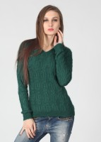 United Colors of Benetton Solid V-neck Casual Women's Sweater