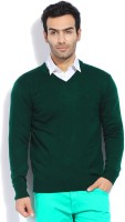 Indian Terrain Solid V-neck Casual Men's Sweater - SWTEYYTFQGGFQQRF