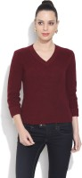 Chemistry Solid V-neck Casual Women's Sweater