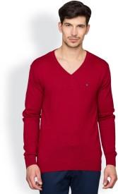 Blackberrys Solid V-neck Party Men's Sweater