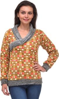 V2k Fashion Polka Print V-neck Casual Women's Sweater - SWTEAJY7BVAX2HKG