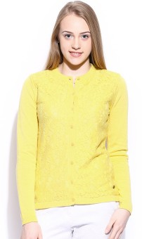 Mast & Harbour Embroidered Round Neck Casual Women's Sweater