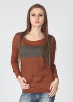 United Colors of Benetton Striped Round Neck Casual Women's Sweater