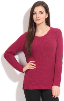 United Colors Of Benetton Solid Round Neck Casual Women's Sweater - SWTEY9SQRRG8VDDA