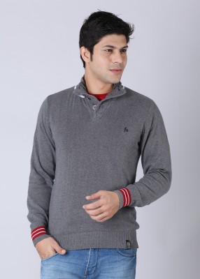 Buy Status Quo Solid Round Neck Casual Men's Sweater: Sweater