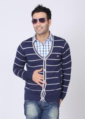 Pepe Striped V-neck Casual Men's Sweater