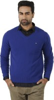 Arrow Solid V-neck Formal Men's Sweater - SWTEFGDUDHTCQJYU