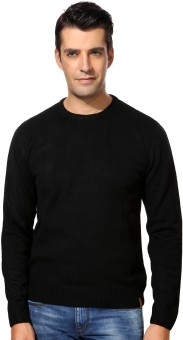 Peter England Solid Round Neck Casual Men's Sweater