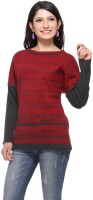 Madrona Geometric Print Round Neck Casual Women's Sweater