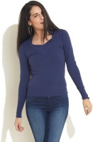 Soie Solid Round Neck Casual Women's Sweater
