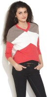Gipsy Striped V-neck Casual Women's Sweater