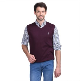 Eprilla Solid V-neck Casual Men's Sweater