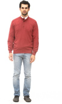 ALX New York Solid Turtle Neck Casual, Formal Men's Sweater - SWTEBQDY2JDAWDUR