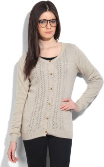 Wills Lifestyle Self Design Round Neck Casual Women's Sweater - SWTEFGFQ8RCX9NJ8
