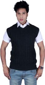 Deutz Solid, Self Design V-neck Casual Men's Sweater