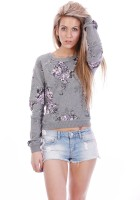 All About Eve Floral Print Round Neck Casual Women's Sweater