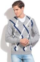 Proline Geometric Print V-neck Casual Men's Sweater