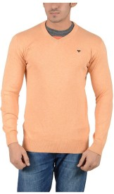 Reveller Solid V-neck Casual Men's Sweater