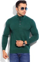 Indian Terrain Solid Round Neck Casual Men's Sweater