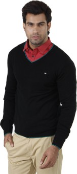 Arrow Solid V-neck Formal Men's Sweater - SWTEFGDUZVJ4GQEF