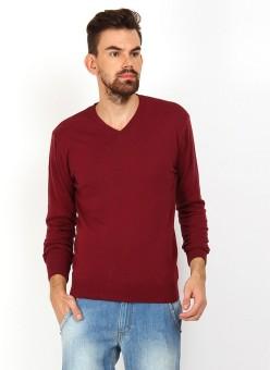 Sukuma Paradise Solid V-neck Casual, Formal, Festive Men's Sweater