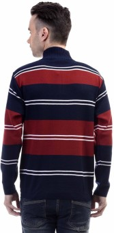 CLUB AVIS USA Striped Turtle Neck Casual Men's Sweater
