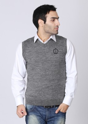 Lee Solid V-neck Casual Men's Sweater