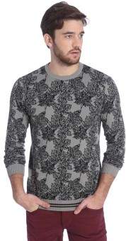Jack & Jones Floral Print Round Neck Casual Men's Sweater - SWTEBZZSRK9P8ZC5