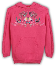 Lilliput Embroidered Turtle Neck Girl's Sweater