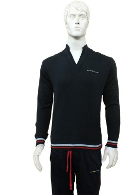 Riverstone Solid V-neck Casual Men's Sweater