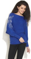 Gipsy Solid Boat Neck Casual Women's Sweater