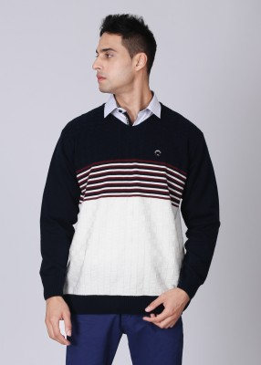 Lawman Striped Round Neck Casual Men's Sweater